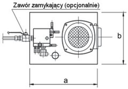 Wymiary napędu hydraulicznego