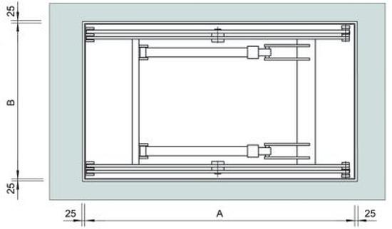 Platforma dwu-nożycowa (przykładowe wymiary)